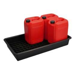 Drum Tray for 6 x 25L Containers - D 100cm x 55cm x 15cm - SpillCentre