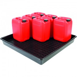 Drum Tray for 9 x 25L Containers - D 101cm x 100cm x 12cm - SpillCentre