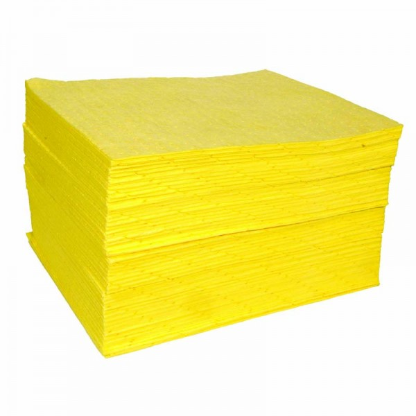Chemical Pad - Double thickness, Bonded & Perforated - 40cm x 50cm - SpillCentre
