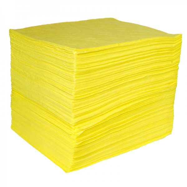 Chemical Pad - Single thickness, Bonded & Perforated - 40cm x 50cm - Pack Size: 200 - SpillCentre