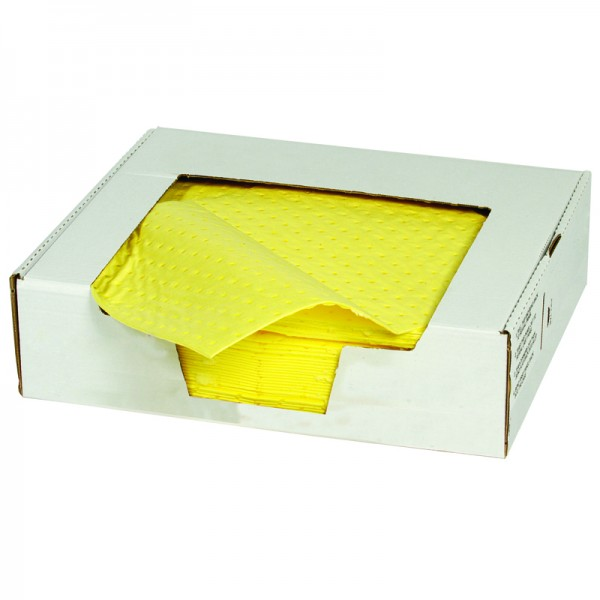 Chemical Pad - Premium thickness, Bonded & Perforated - 40cm x 50cm - Pack of 25 - SpillCentre