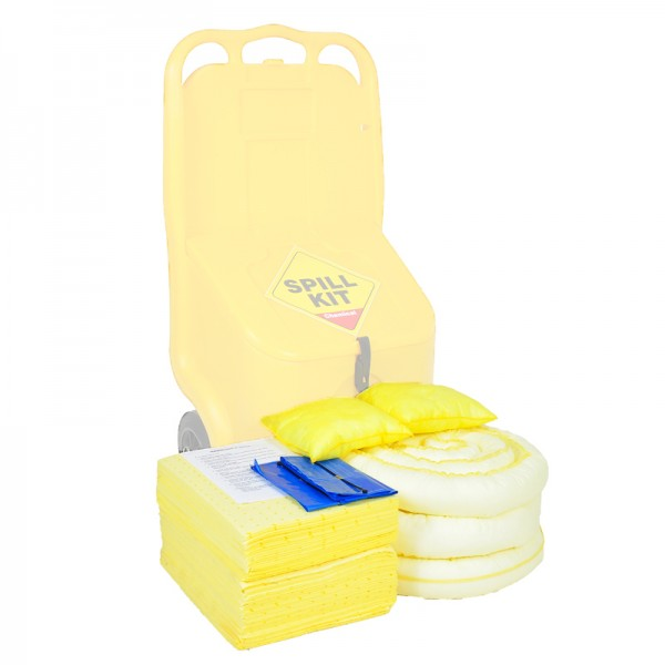 70L Wheeled Locker Chemical Spill Kit Refill - SpillCentre