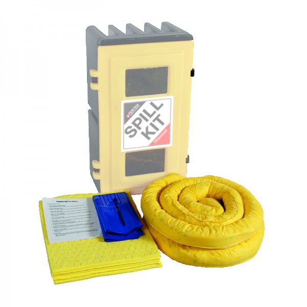 50L Wall Cabinet Chemical Spill Kit Refill - SpillCentre