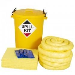 100L Chemical Spill Kit in Plastic Bin - SpillCentre