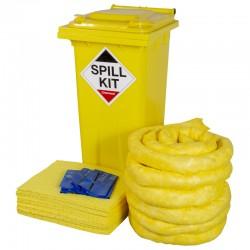 120L Chemical Spill Kit in Wheeled Bin - SpillCentre
