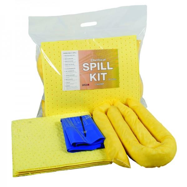 20L Chemical Spill Kit in Break Plastic Bag - SpillCentre