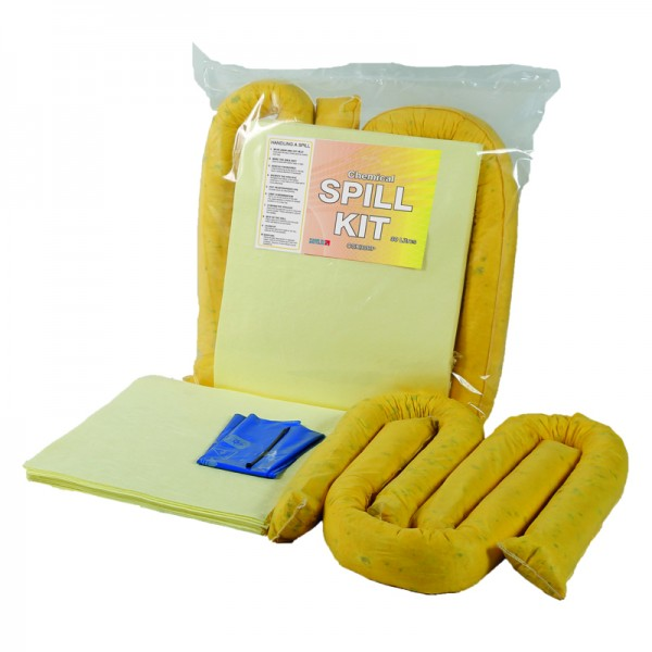 30L Chemical Spill Kit in Break Plastic Bag - SpillCentre