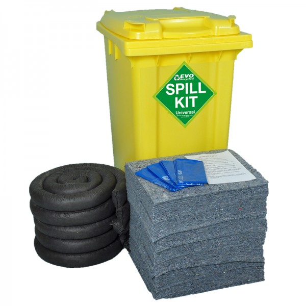 150L EVO Spill Kit in Wheeled Bin - SpillCentre