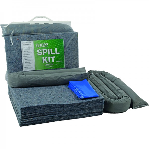 30L EVO Spill Kit in Clip-Close Plastic Bag - SpillCentre