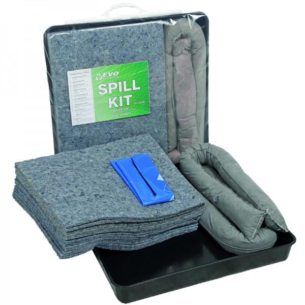 30L EVO Spill Kit in Clip-Close Plastic Bag + Drip Tray - SpillCentre