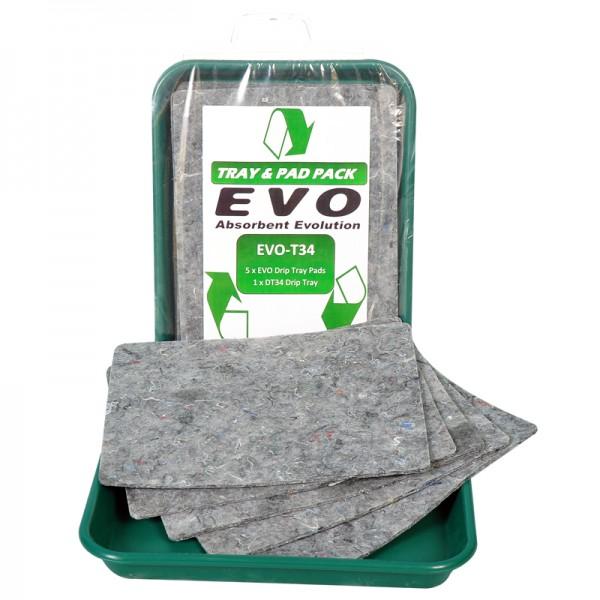 EVO Triple Loft Pads with Drip Tray - D 40cm x 30cm x 1cm - 4.5L - SpillCentre