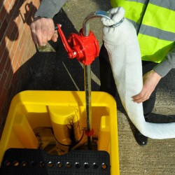 2 Filter Socks & Rotary Hand Pump - SpillCentre