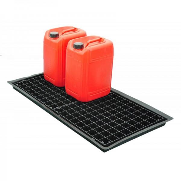 Flexible Tray for 7 x 20L Containers - D 102cm x 52cm x 5cm - SpillCentre
