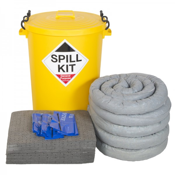 100L General Spill Kit in Plastic Bin - SpillCentre