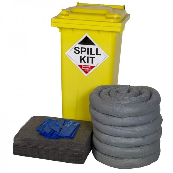 120L General Spill Kit in Wheeled Bin - SpillCentre