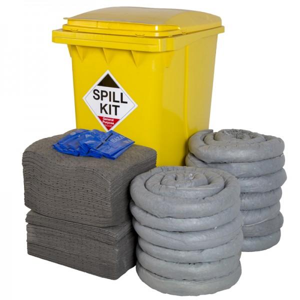 360L General Spill Kit in Wheeled Bin - SpillCentre
