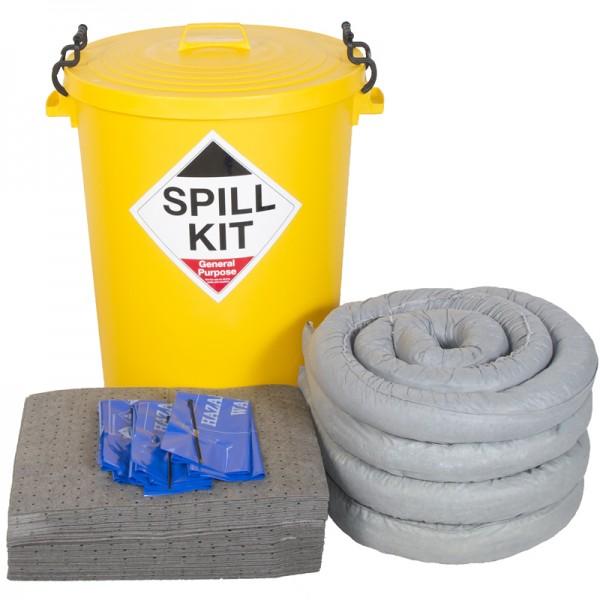 90L General Spill Kit in Plastic Bin - SpillCentre