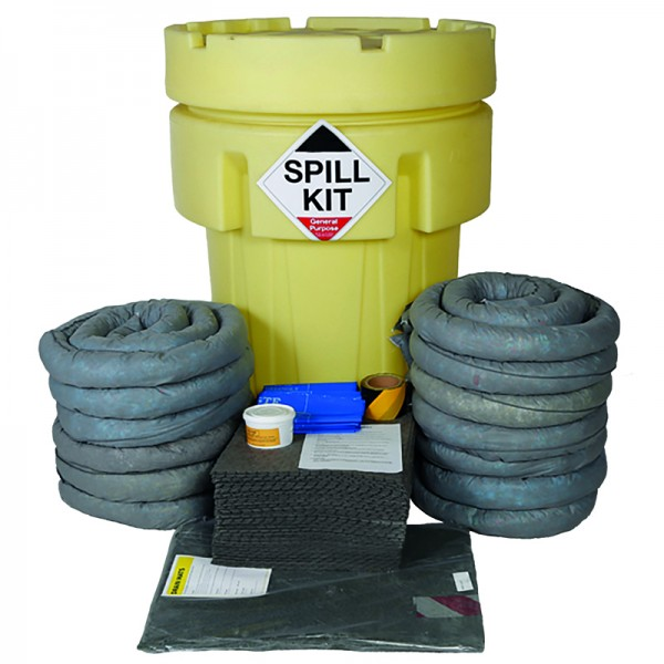 250L General Spill Kit in Overpack Drum - SpillCentre