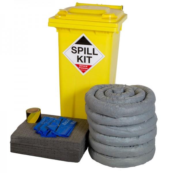 125L General Spill Kit in Wheeled Bin - SpillCentre
