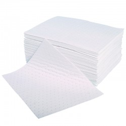 Oil & Fuel Pad - Double thickness, Bonded - 40cm x 50cm - Pack of 100 - SpillCentre