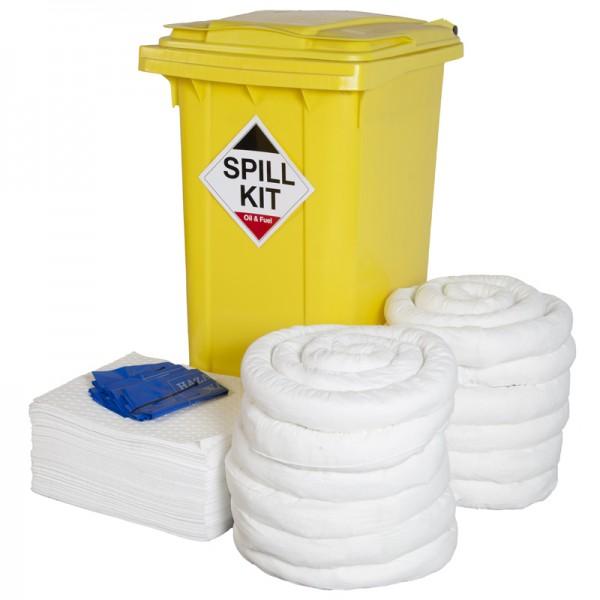 240L Oil & Fuel Spill Kit in Wheeled Bin - SpillCentre