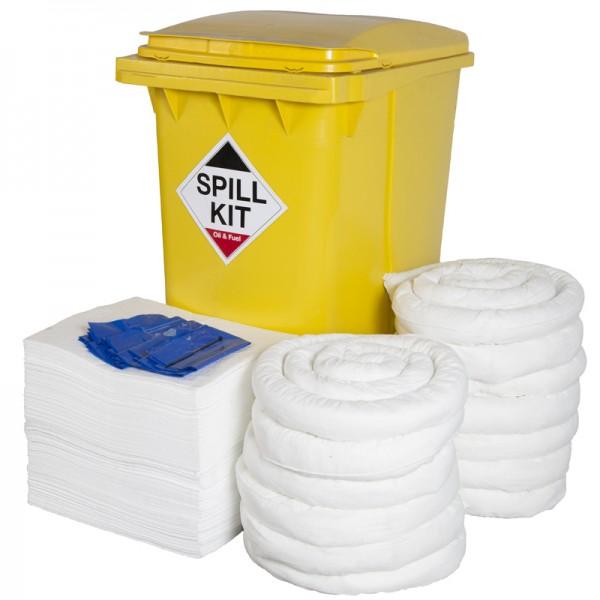 360L Oil & Fuel Spill Kit in Wheeled Bin - SpillCentre