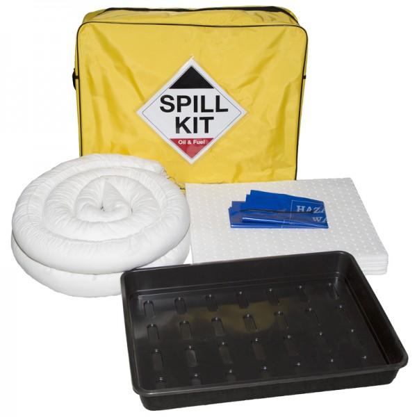 50L Oil & Fuel Spill Kit in Shoulder Bag + Drip Tray - SpillCentre