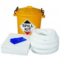 65L Oil & Fuel Spill Kit in Plastic Drum - SpillCentre