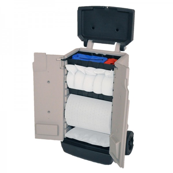70L Oil & Fuel Spill Kit in Wheeled Spill Caddy - SpillCentre