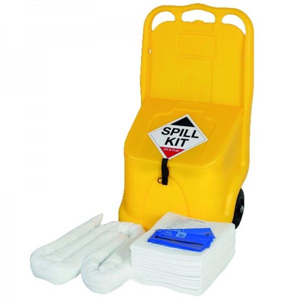 70L Oil & Fuel Spill Kit in Wheeled Locker Caddy - SpillCentre