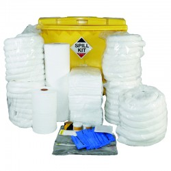 1100L Oil & Fuel Spill Kit in Wheeled Industrial Bin - SpillCentre