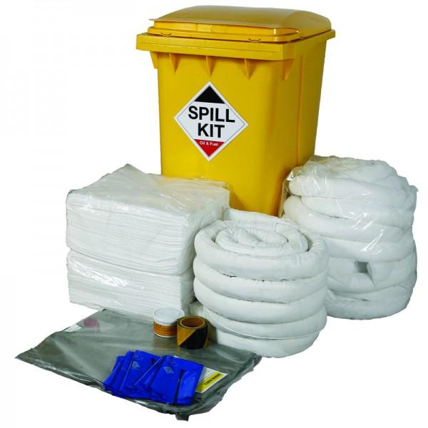 350L Oil & Fuel Spill Kit in Wheeled Bin - SpillCentre