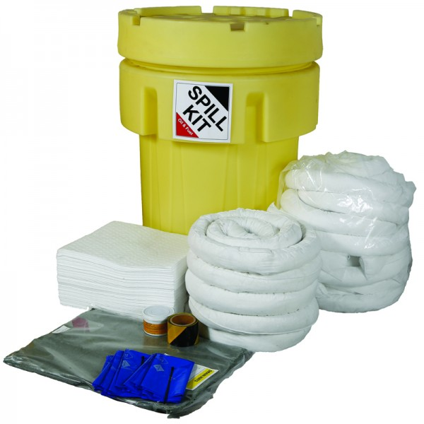 250L Oil & Fuel Spill Kit in Overpack Drum - SpillCentre