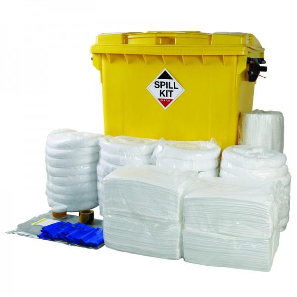 800L Oil & Fuel Spill Kit in Wheeled Trunker - SpillCentre