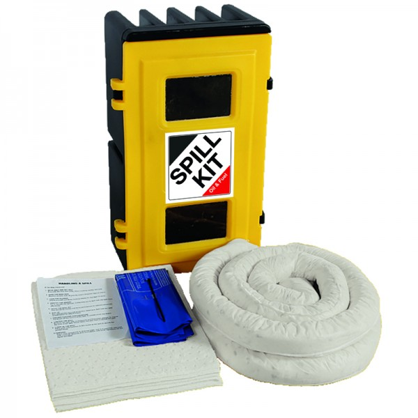 50L Oil & Fuel Spill Kit in Wall Cabinet - SpillCentre