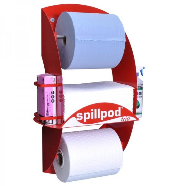 Trio Spill Pod Dispenser Station for Oil & Fuel Spills - SpillCentre
