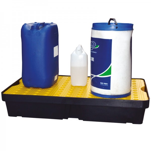 60L Spill Tray with Removable Grid - D 100cm x 60cm x 17cm - SpillCentre