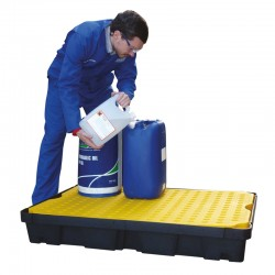 100L Spill Tray with Removable Grid - D 120cm x 80cm x 17cm - SpillCentre