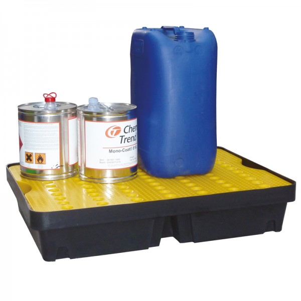 40L Spill Tray with Removable Grid - D 80cm x 60cm x 15cm - SpillCentre