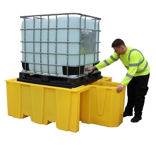 1000L IBC Bund Pallet With Integral Dispenser And Removable Grid - SpillCentre