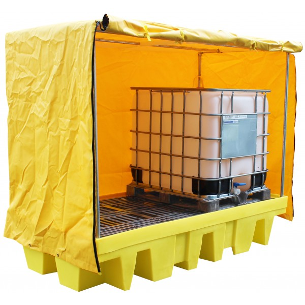 2x 1000L IBC Covered Bund Pallet, 1140L Bund - SpillCentre