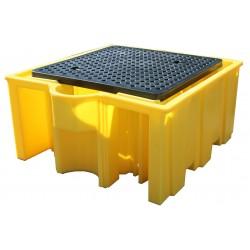 1000L IBC Bund Pallet 1125L Bund With Removable Grid - SpillCentre