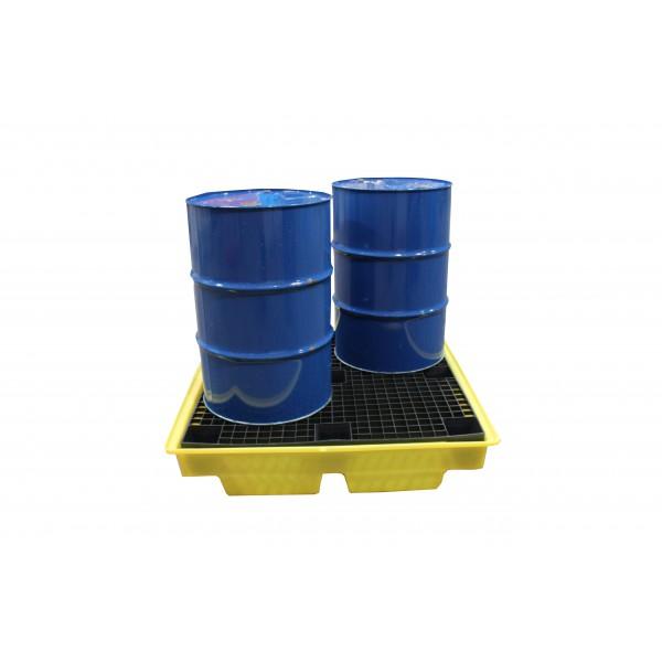 Bund Pallet For 4x 205L Drums, Low Profile, 230L Bund - SpillCentre