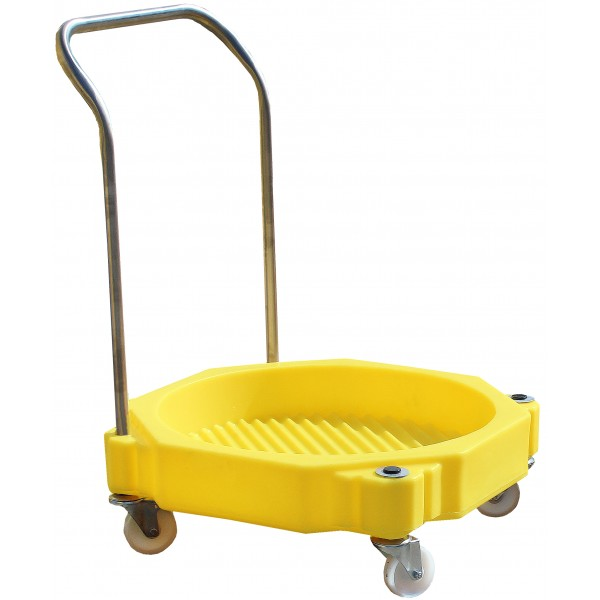 4 Wheel Drum Dolly With Handle - SpillCentre
