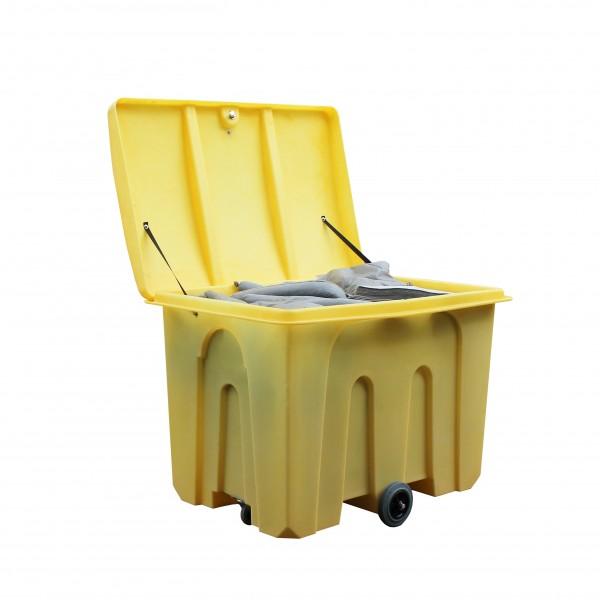 1000L Loose Lid Poly Storage Bin On Wheels - SpillCentre