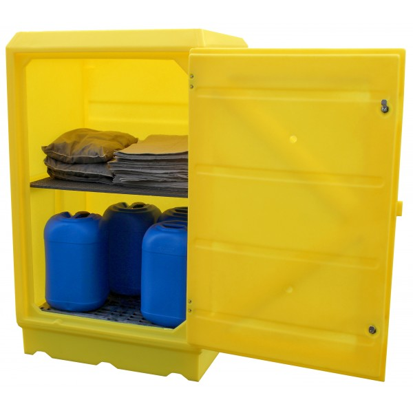100L Bund Lockable Storage Cabinet With Shelf - SpillCentre